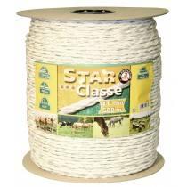 Kordellitze 500 m, 6 mm, weiß/grün, Leiter 3 x 0,30 Niro + 3 x 0,30 Ku Euro