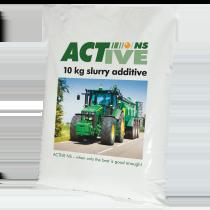 Active NS Gülleadditiv wird in 10kg Säcken geliefert