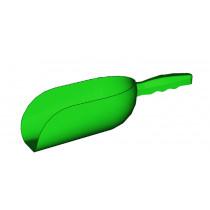 Futterschaufel, Kunststoff grün 2 kg