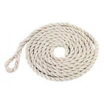 Sisal-Tau 3,50 m mit kleiner Schlaufe - Bindestrick, Seil oder Tau aus Sisal