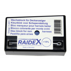 Farbkissen für Bocksprunggeschirr, blau - Wachsblock Deckanzeiger