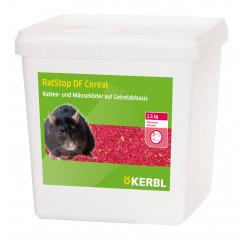 RatStop DF 50 Cereal von Kerbl. Wirksamer Rattenköder auf Basis von Getreide mit dem Wirkstoff Difenacoum