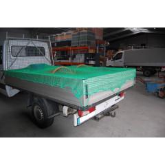 Abdecknetz SafeNet Ladungssicherungsnetz 3,0 m x 2,5 m, 45 mm Maschen. Netz mit 3,0 mm Stärke für PKW-Anhänger, landwirtschaftliche Anhänger, offene Container, LKW-Ladeflächen etc.