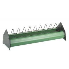 Legehennentrog mit Freßgitter 75 cm in grün - Trog für Legehennen & Hühner