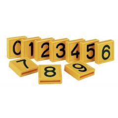 Nummernblock gelb, zum Einschlaufen