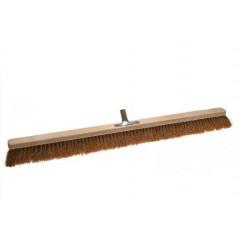 Stabiler Naturfaser-Saalbesen (100 cm Breite) mit Kokosborsten und Metallhalterung. Gut für groben und trockenen Schmutz im Innenbereich und Aussenbereich geeignet.