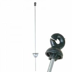 Weidezaunstab, rund mit Ringisolator 105 cm, 25 Stück/Karton