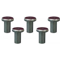 Ersatznieten für Stahlkante 5 Stück