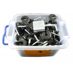 100 Stück Ringisolator Göbel mit Einschraubhilfe