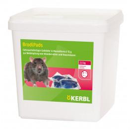 Rattengift BrodiPads 50 Gelpad 2500 g Portion 15 g, Brodifacoum - Köder Ratten Mäuse