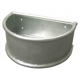 Pferdefuttertrog Rundtrog, Metall mit umlaufendem Rundrohr