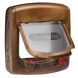 Staywell® Luxus-Magnetische Katzenklappe holzfarben K420SGIFD