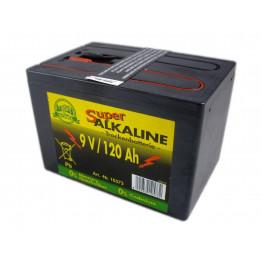 Weidezaun Batterie 9 Volt 120 AH, Alkaline - Trockenbatterie ohne Quecksilber Cadmium (Batterie)