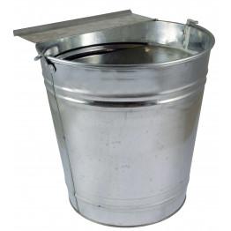 Geflügeltränkeeimer verzinkt 12 Liter - mit automatischem Wassernachlauf