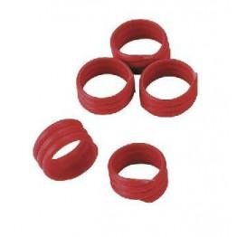 Extra starke Spiralringe mit 16 mm Durchmesser für Hühner, Puten, Fasane, usw in  rot. Lieferumfang: 20 Stück / Packung