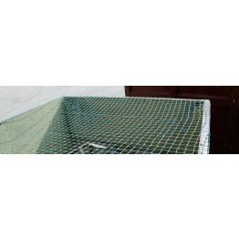Abdecknetz SafeNet Ladungssicherungsnetz 3,5 m x 2,5 m, 30 mm Maschen. Netz mit 1,8 mm Stärke für PKW-Anhänger, landwirtschaftliche Anhänger, offene Container, LKW-Ladeflächen etc.