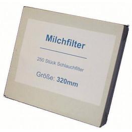 Milchfilter neutral, genäht, 455 mm, 250 Stück