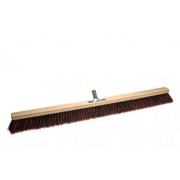 Stabiler Großraum / Saal -Besen (100 cm) mit Arenga/Elaston-Fasern und Metall-Stiel-Halter - Öl & Säure-beständig