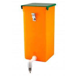 Nippeltränke orange 1 Liter mit Licht und Vitaminschutz - Edelstahl Halterung