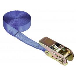Ratschenzurrgurt blau einteilig 5 m x 25 mm