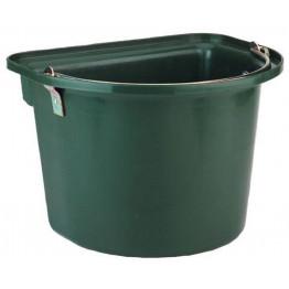 Stalleimer mit Metalltragegriff, grün