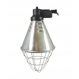 Waermestrahler mit Schutzkorb und 2,5 m Kabel - Alu Lampe - Waermestrahlgeraet
