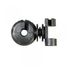 Zusatzisolator Klemmfix schwarz - 50 Stück / Pack - Ersatzisolator