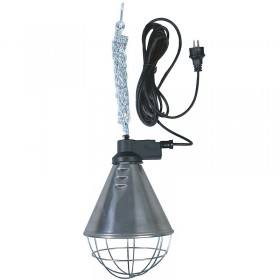 Wärmestrahler mit Schutzkorb und 2,5 m Kabel - Alu Lampe - Wärmestrahlgerät