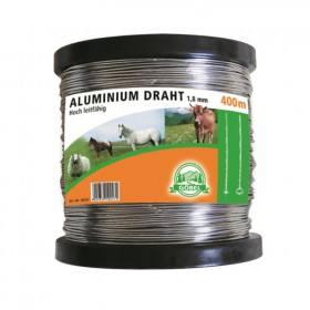 Aludraht 1,8 mm, 400 m Rolle - Weidezaundraht aus Aluminium Draht