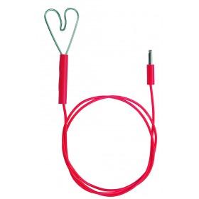 Zaunkabel, Stecker/Herz - Anschlusskabel mit Herzklemme