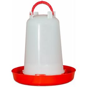 Geflügeltränke 1,5 l mit Bajonettverschluss rot