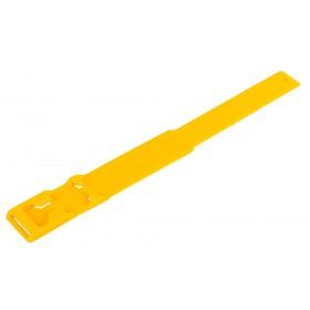 Fesselbänder in gelb aus Kunststoff zur Markierung von Kühen und Rindern