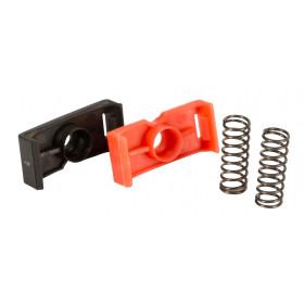 Ersatzteile Primaflex Zange, rot + weiß PVC-Teil plus 2 Federn
