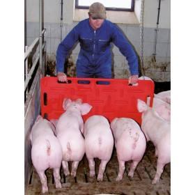 Schweine Treibbrett groß, 126 x 76 cm, rot