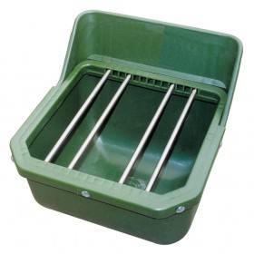 Pferdefuttertrog mit Metallstäben für Fohlen - 9 Liter