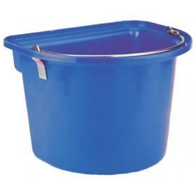 Blauer Stalleimer mit Metalltragegriff 12 Liter