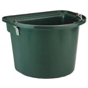Grüner Stalleimer mit Metalltragegriff, grün