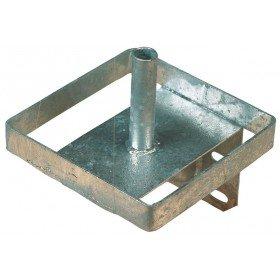 Salzlecksteinhalter aus Metall (verzinkt) - Lecksteinhalter