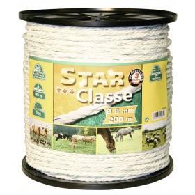 Kordellitze 200 m, 8 mm, weiß/grün, Leiter 4 x 0,30 Niro + 4 x 0,30 Ku Euro