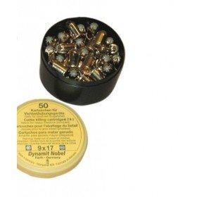 Kartuschen (Munition / Patronen) für Wühlmaus Selbstschussgerät - 50 Stück / Pack