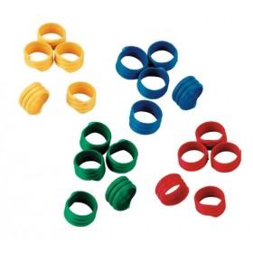 Gänseringe 20 mm, verschiedene Farben - 100 Stück / Pack