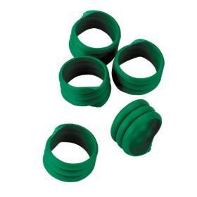Hühnerringe in grün, 20 Stück - Extra starke Spiralringe 16mm 3x gedreht für Hühner Geflügel Pute