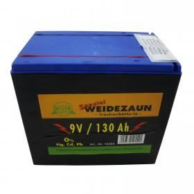 Weidezaun Batterie 9 Volt 130 AH - Zink Kohle Trockenbatterie