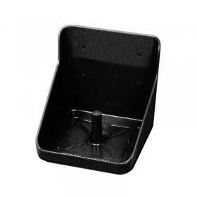 Salzlecksteinhalter schwarz, PVC - Lecksteinhalter aus Kunststoff