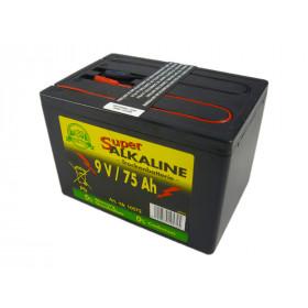 Weidezaun Batterie 9 Volt 75 AH, Alkaline - frei von Cadmium und Quecksilber