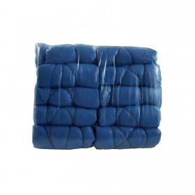 100 Einmalschuhe, blau aus Kunststoff, CPE Überschuh auf Rolle