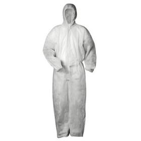 Schutzoverall Einweganzug XL für leichte Gefahren - PP Einweg Overall mit Kapuze