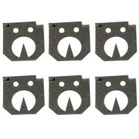 Ersatz Stellplättchen - 6 Stück für Wühlmaus-Zangenfalle