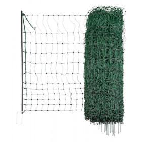Geflügelnetz 50 m; 112cm, Doppelspitze, grün nicht elektrifizierbar - Euro-Netz