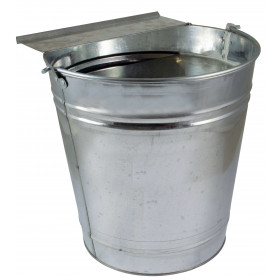 Tränkeeimer 6 Liter für Hühner Geflügel Eimertränke Metall verzinkt Hühnertränke